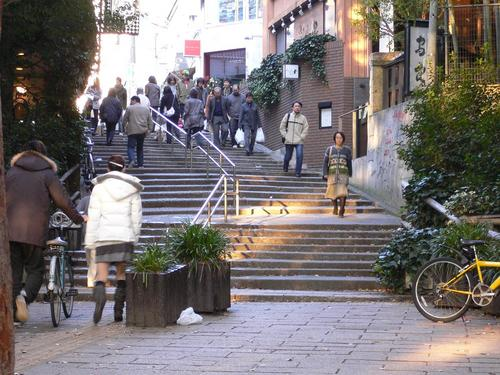 街と公園の連絡道